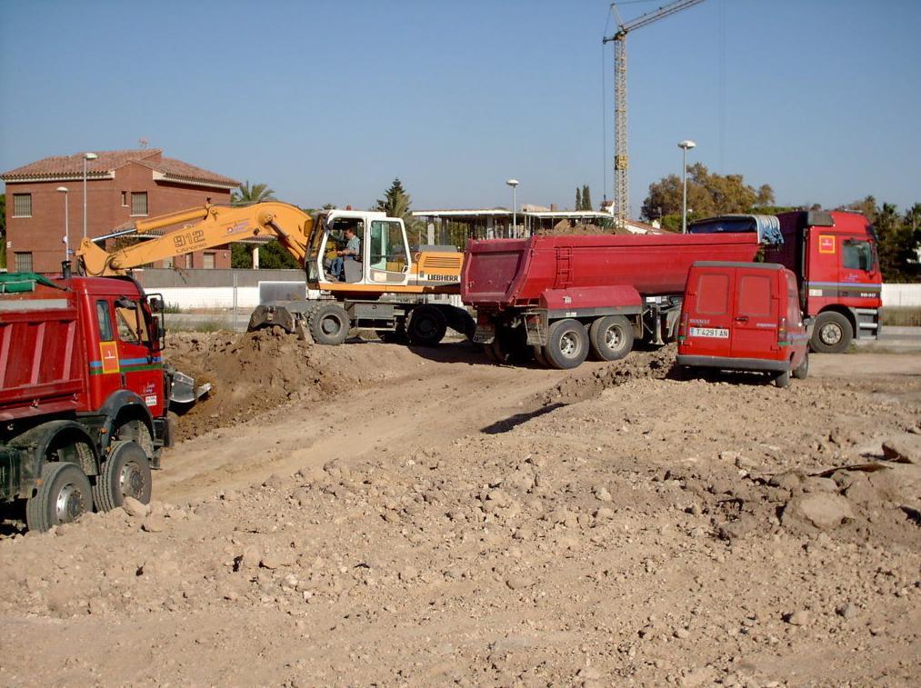 Trabajos de movimiento de tierras.