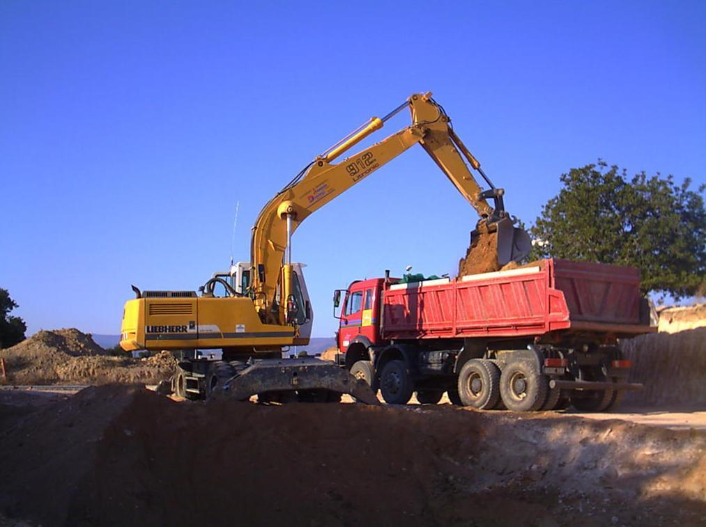 Excavación, carga y transporte.