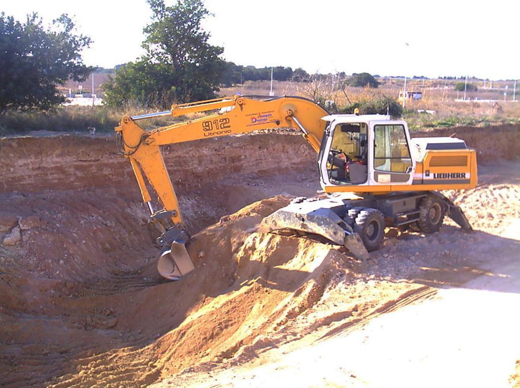 Excavación en tierra.