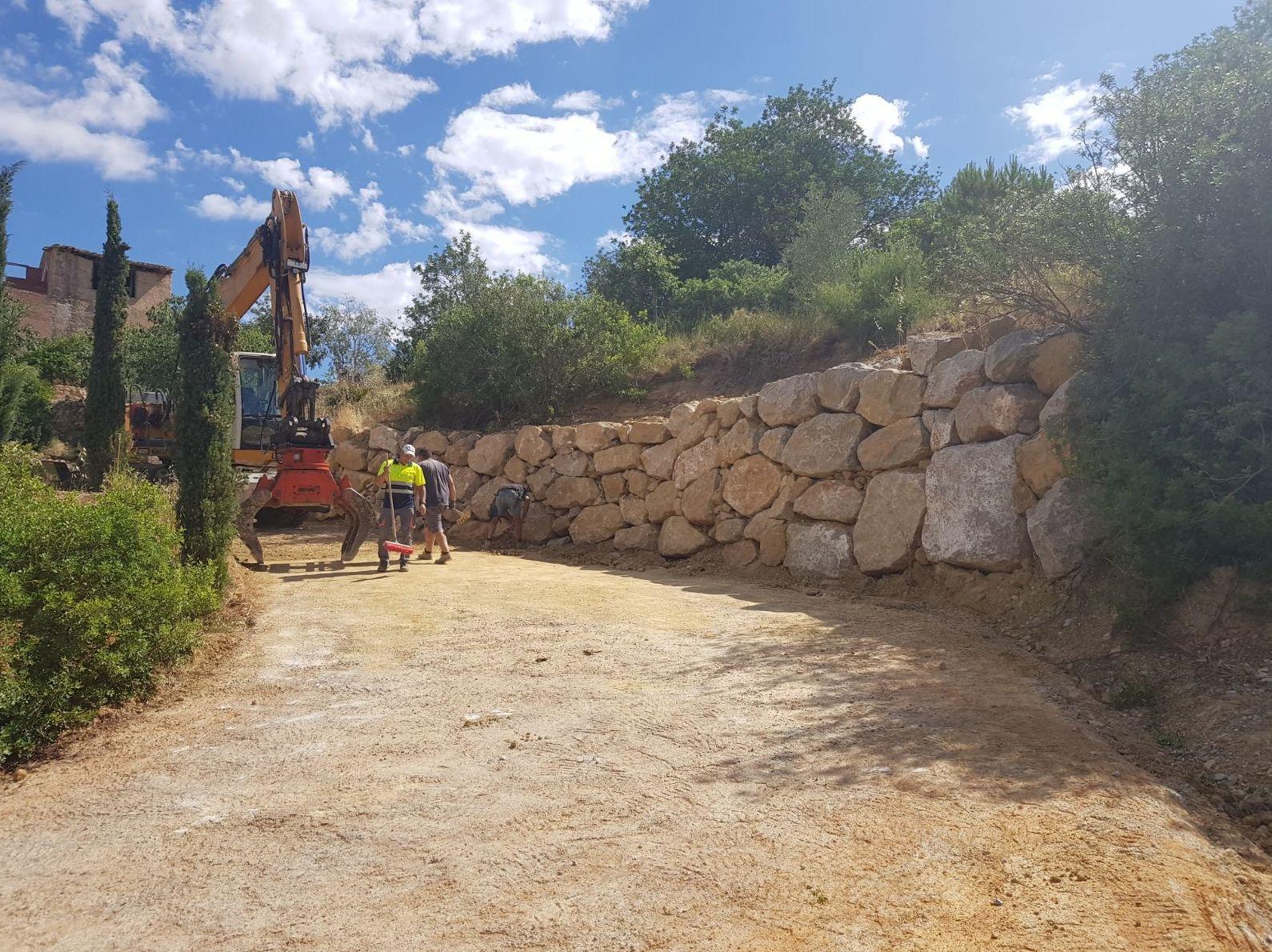 Formación Muro de escollera, Vespella de Gaià