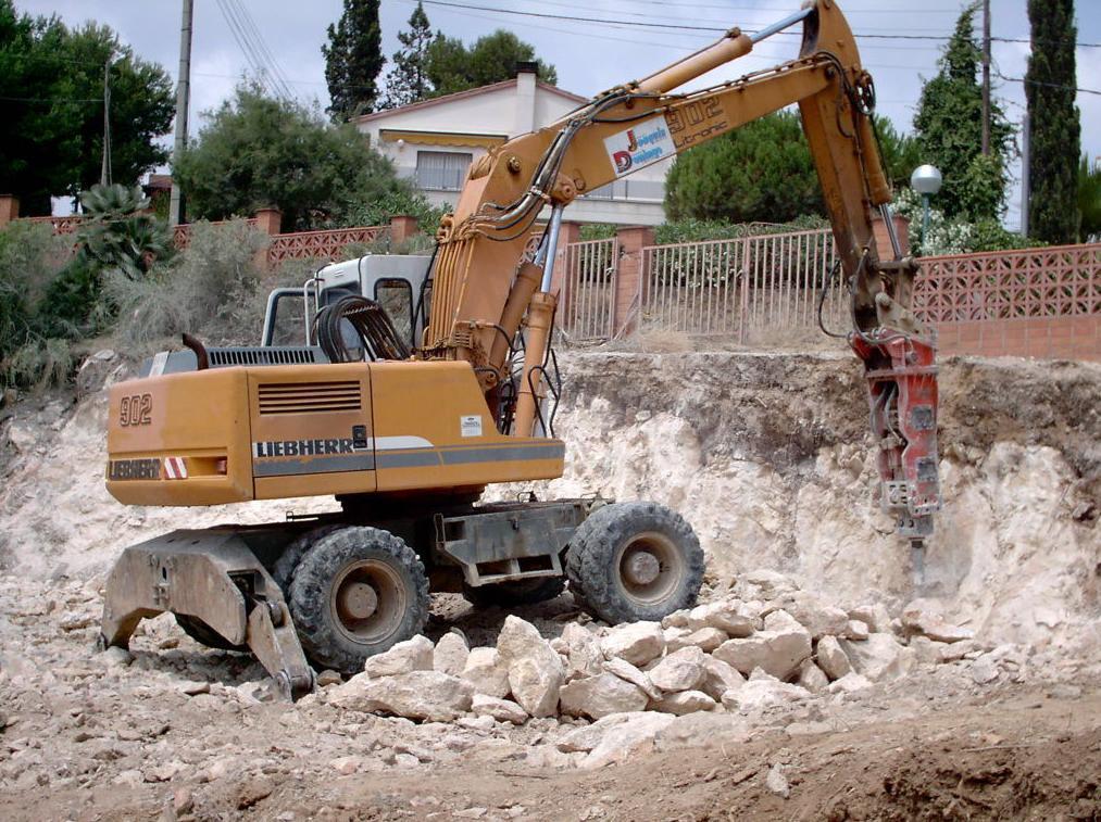 excavación en piedra.