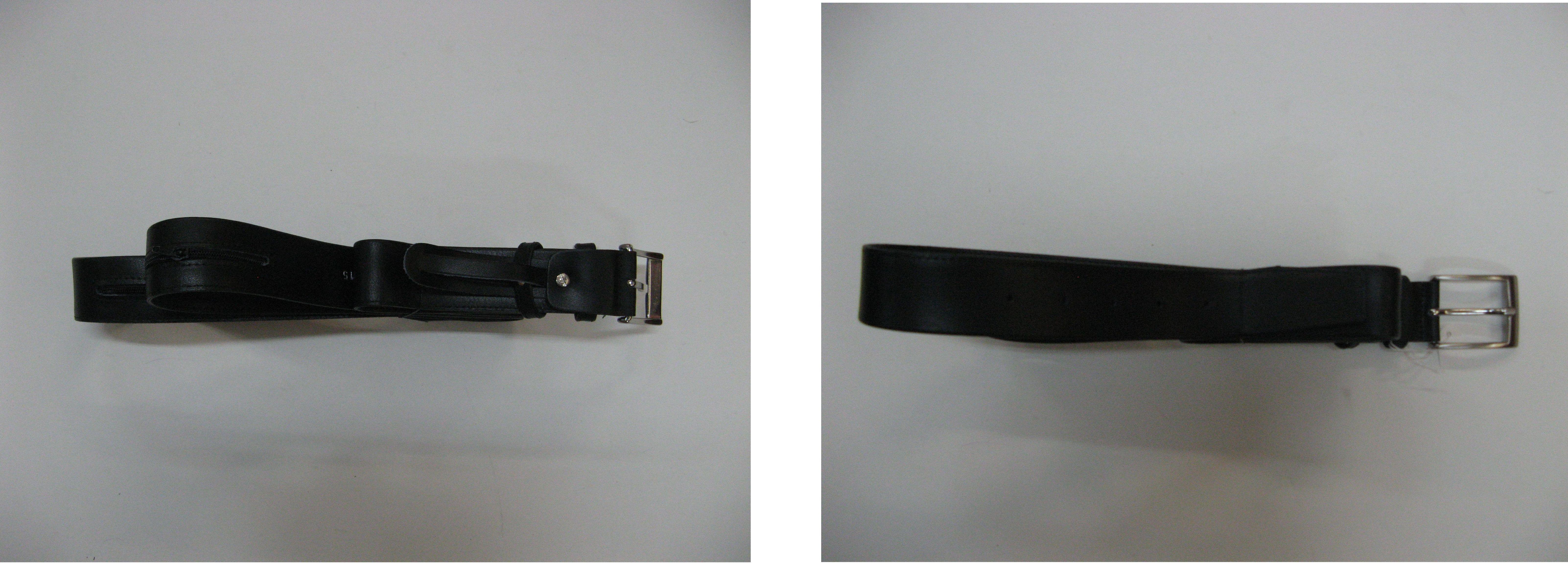 Cinturón para viaje en piel con bolsillo interior