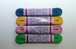 Cordones de colores encerados