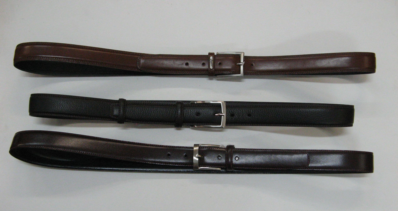 Cinturón en cuero para caballero, varios modelos y colores