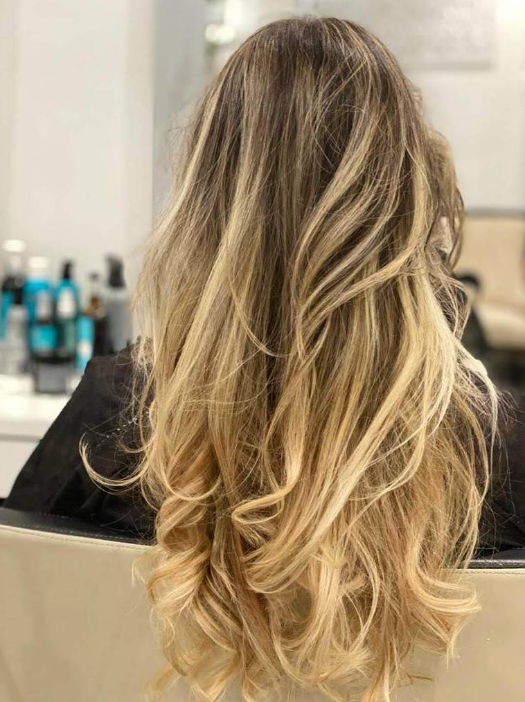 Mechas balayage free hands en Madrid