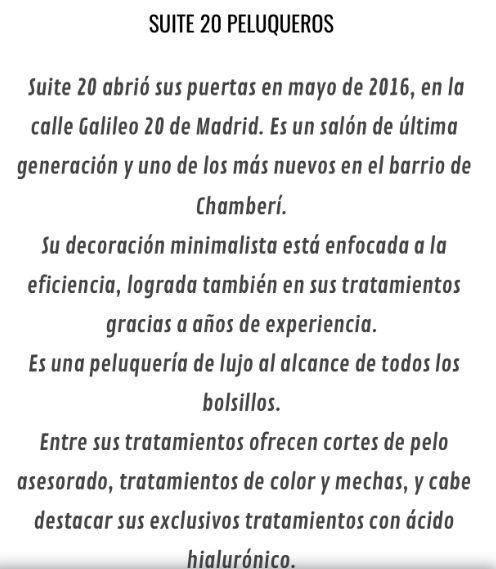 Foto 15 de Peluquerías de hombre y mujer en Madrid | Suite 20 Salón de Belleza