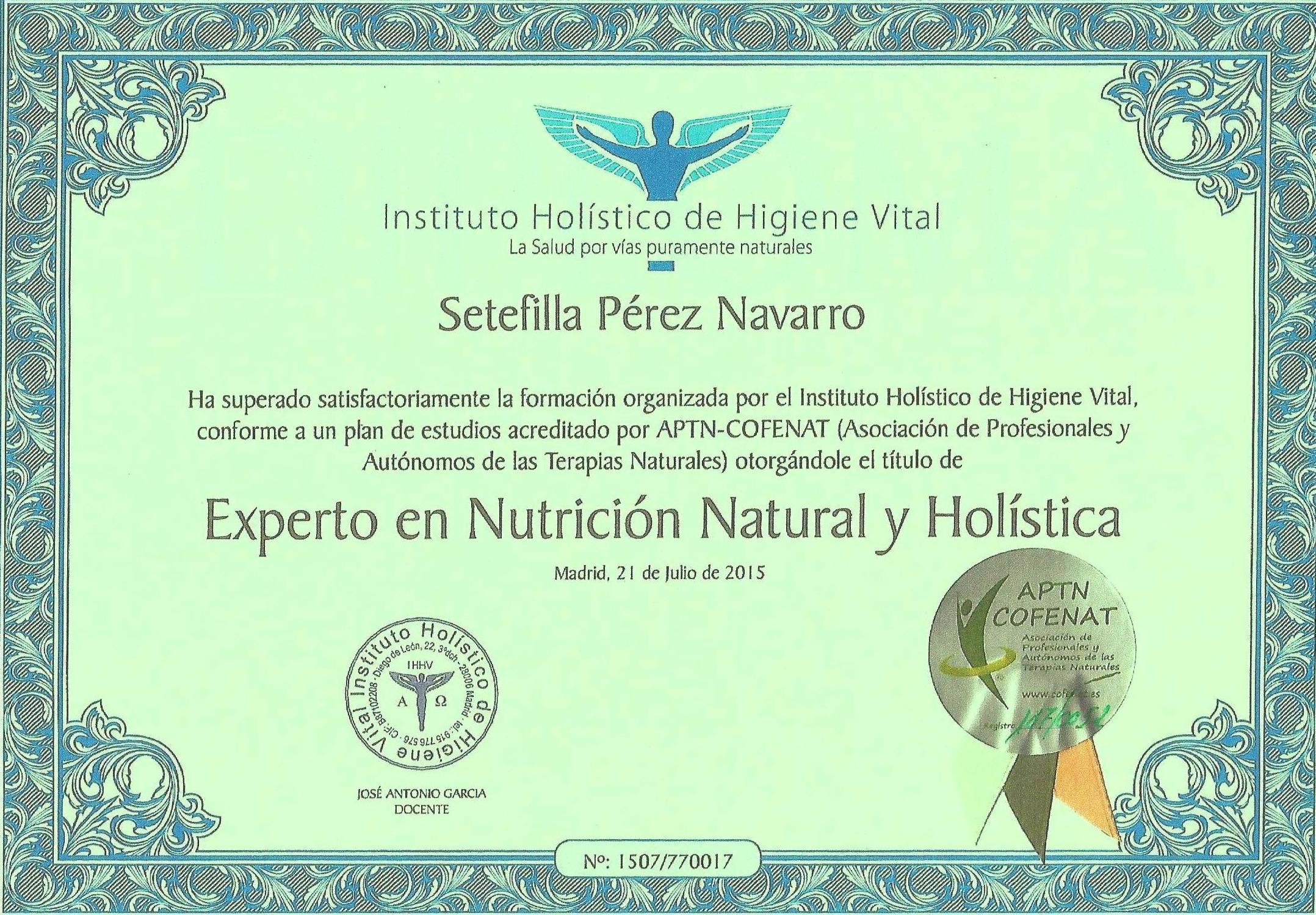 Cursos de Nutrición Holística
