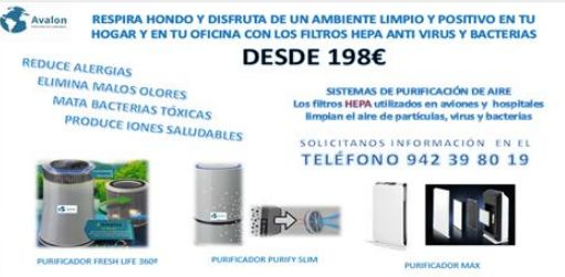 Purificador de aire con filtro hepa: Productos de Avalon, Soluciones Ecosostenibles