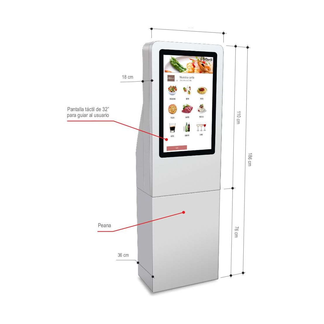 T-Quiosk modelo 100: Productos de Discove