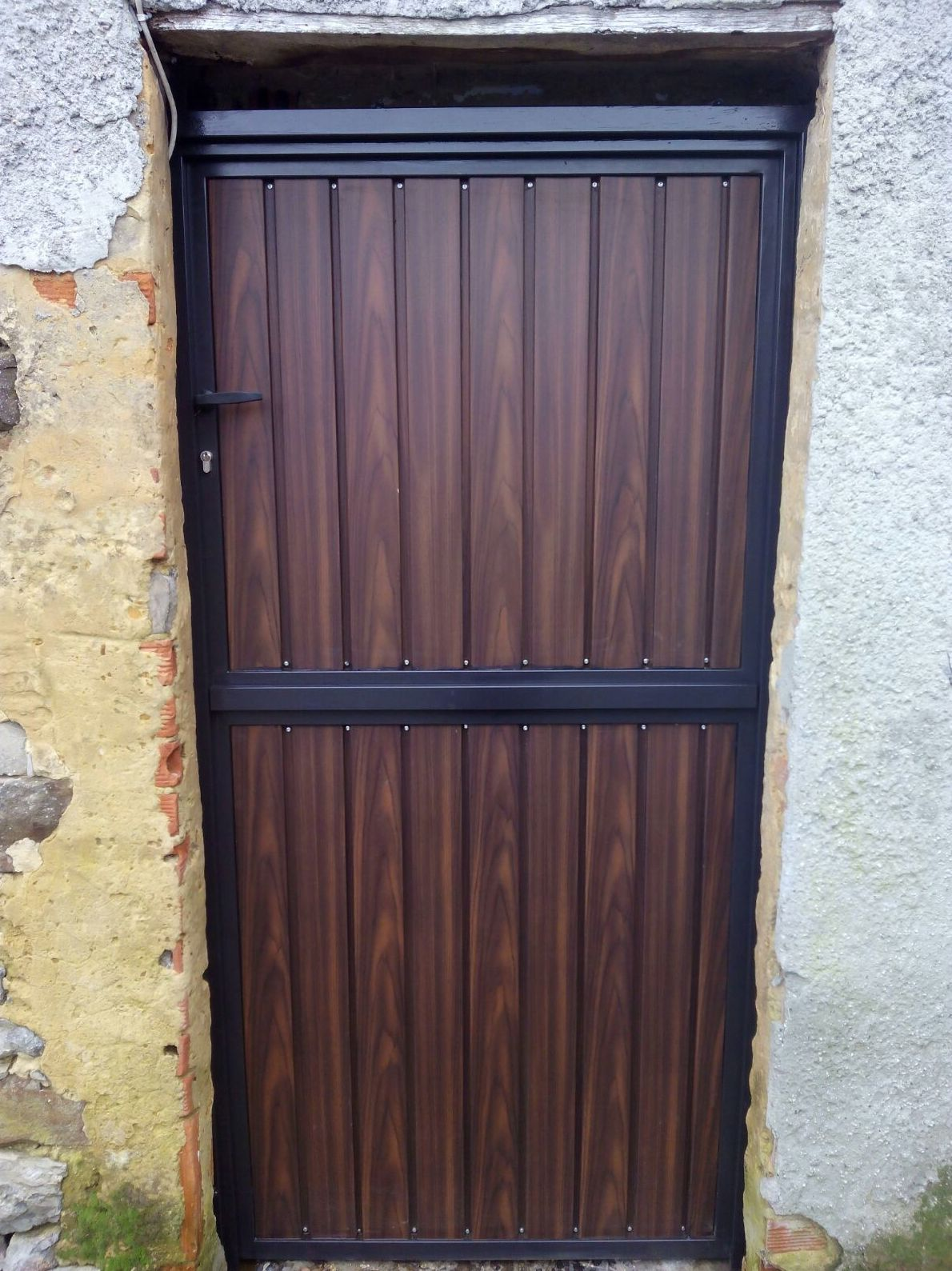 Puerta de hierro de exterior