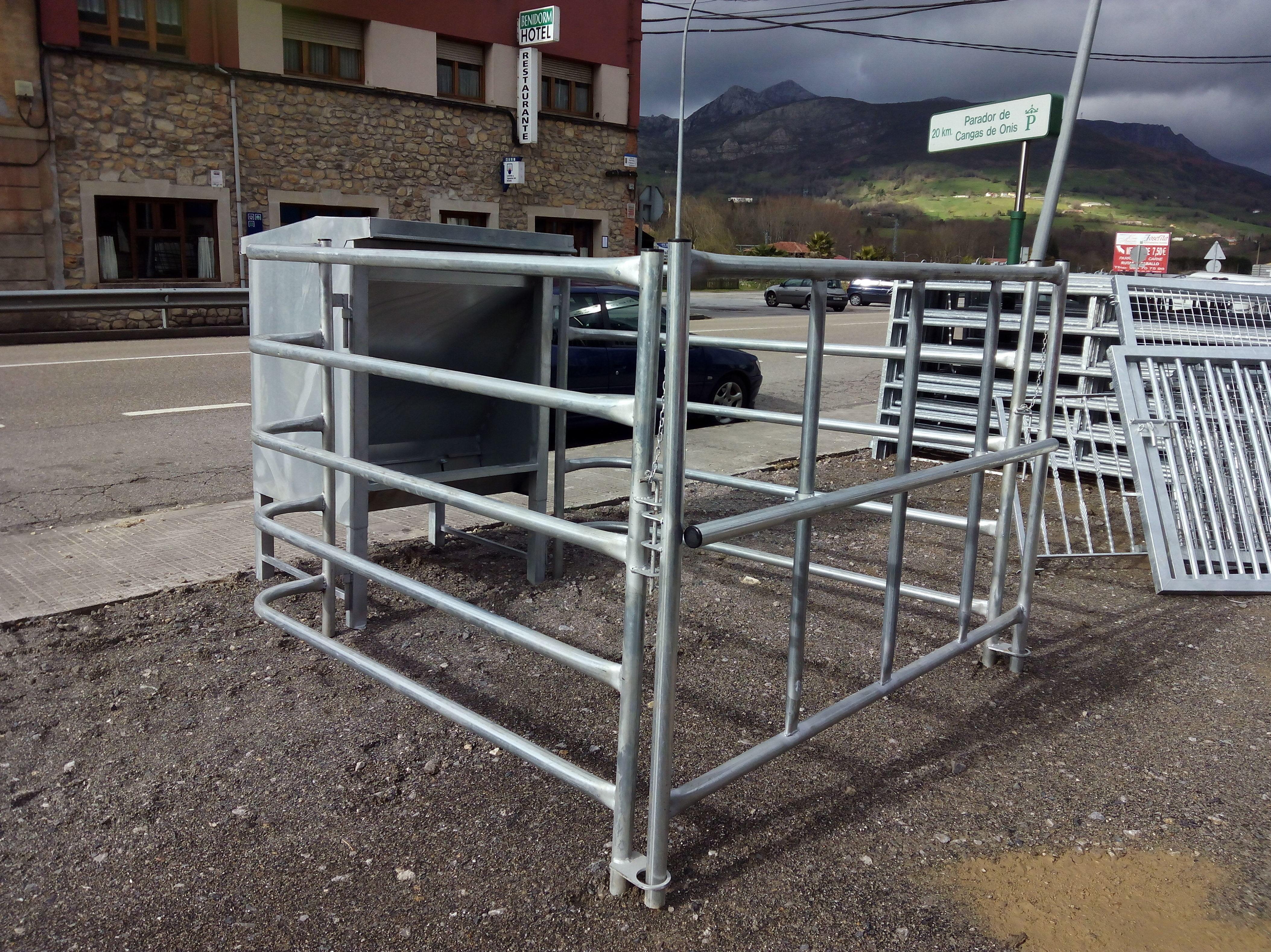 Estructuras metálicas para ganadería