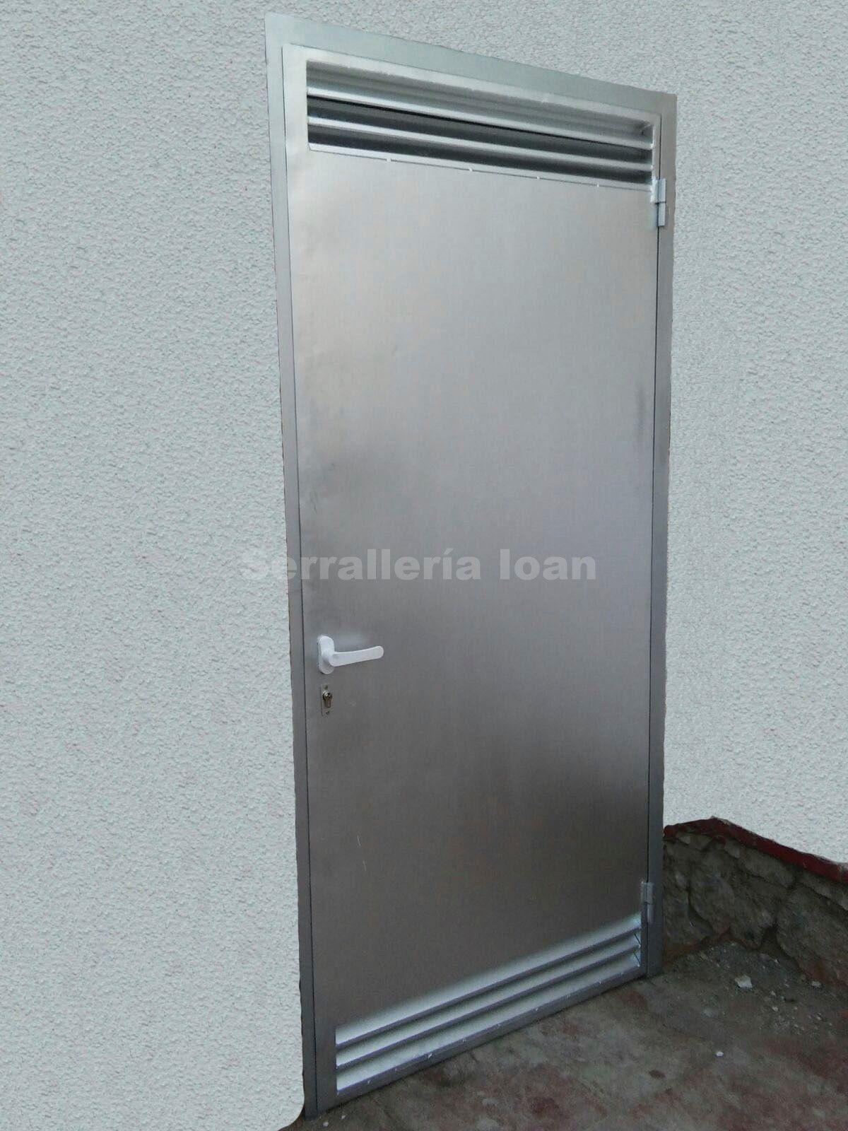Puerta con ventilación: Productos y servicios de Serrallería Solé