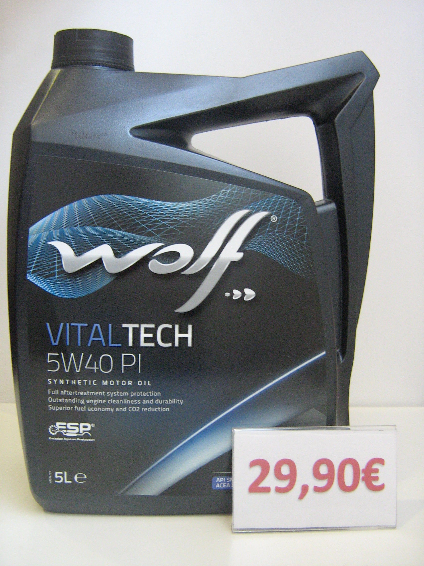 WOLF VITALTECH 5W40 PI: Servicios de Safety Car