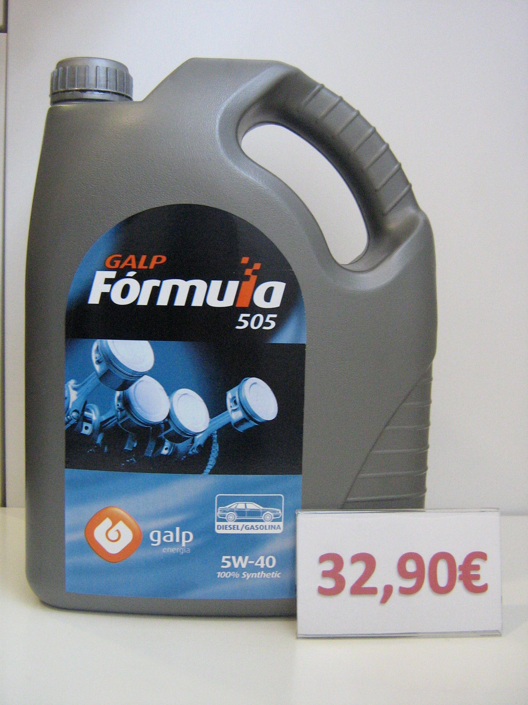 GALP FORMULA 505 DIESEL/GASOLINA 5W40 : Servicios de Safety Car