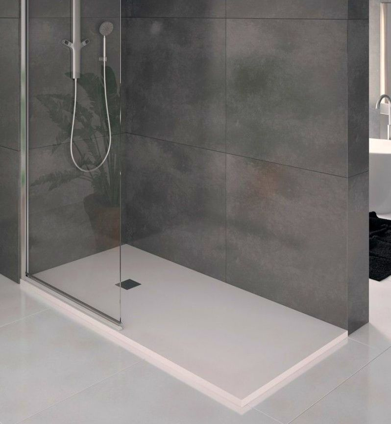 Oferta 90 iva plato de ducha de resina 120x70 blanco for Instalar plato ducha resina