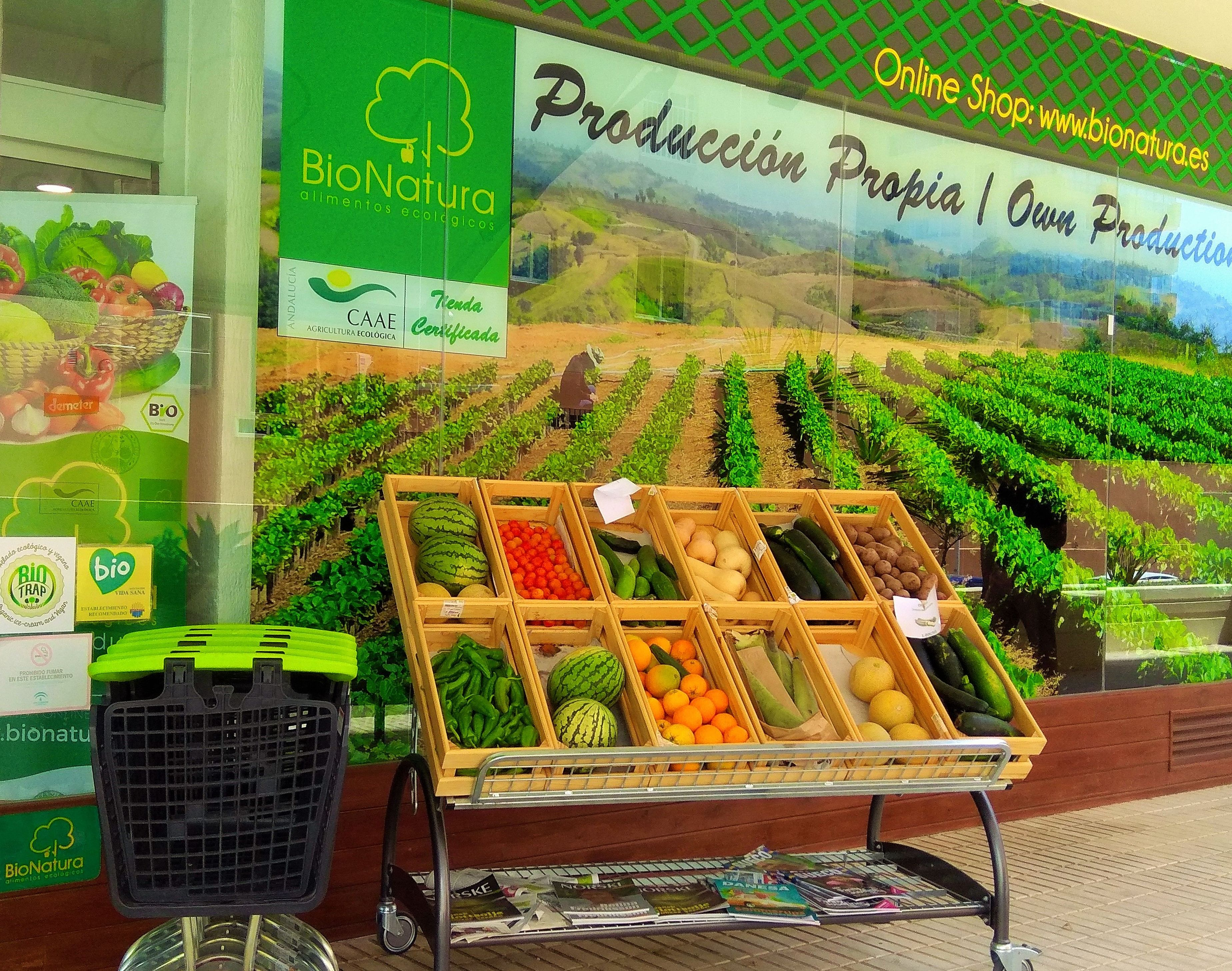 Venta frutas ecológicas Málaga