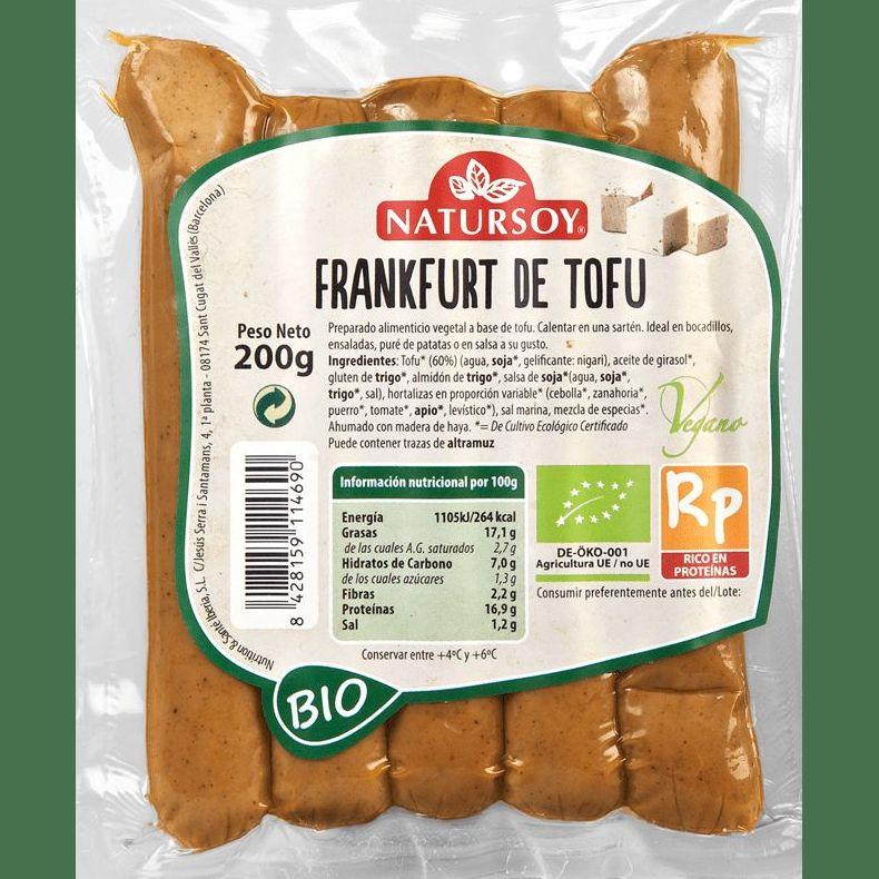frankfurt de tofu NATURSOY 200gr: Productos de Bionatura