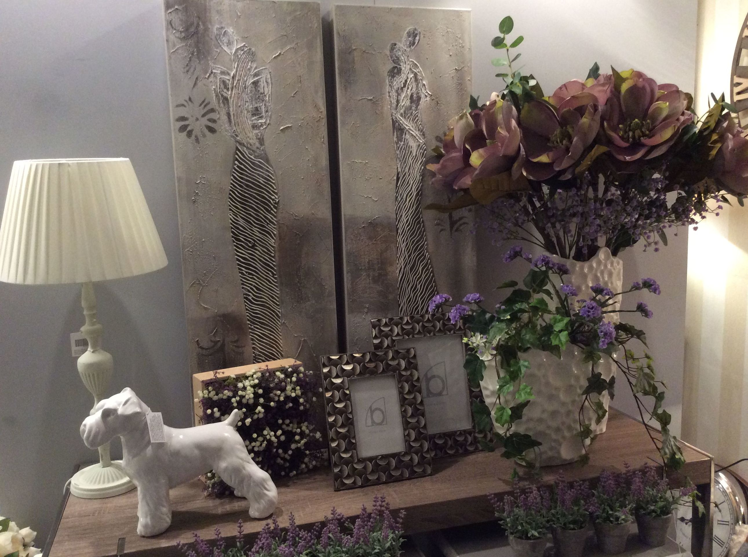 pareja de cuadros horizontales ideal para decorar un recibidor