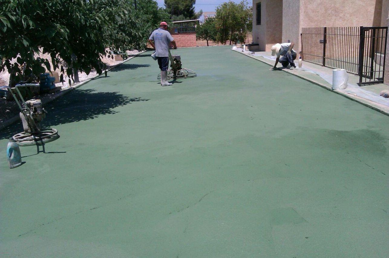 Hormigón pulido fratasado en Murcia