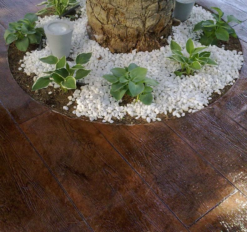 Realización de suelos para balnearios