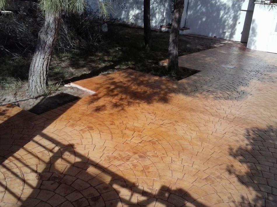 Pavimentos impresos y fratasados de Fortuna, Murcia