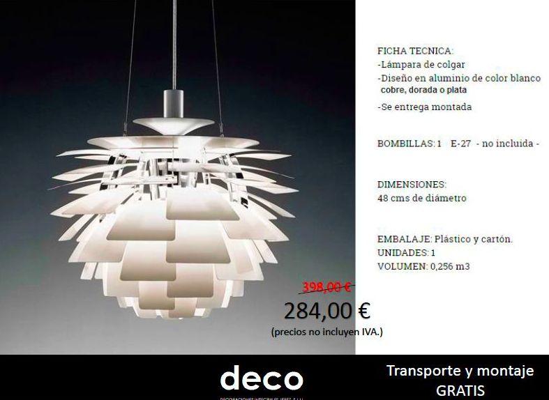 Oferta lámpara de diseño.