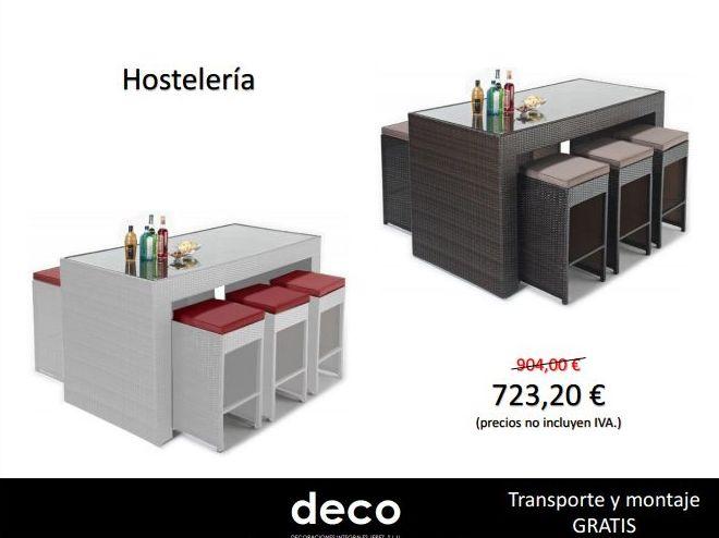 Oferta mobiliario de hostelería