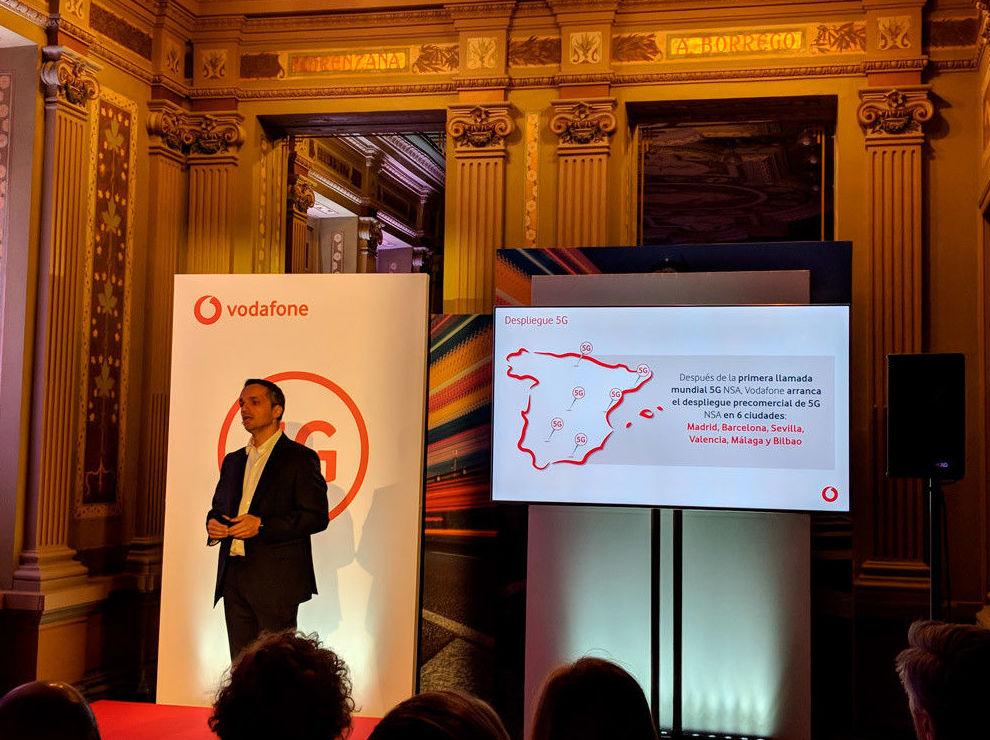 Vodafone empieza el despliegue (precomercial) del 5G en seis ciudades españolas