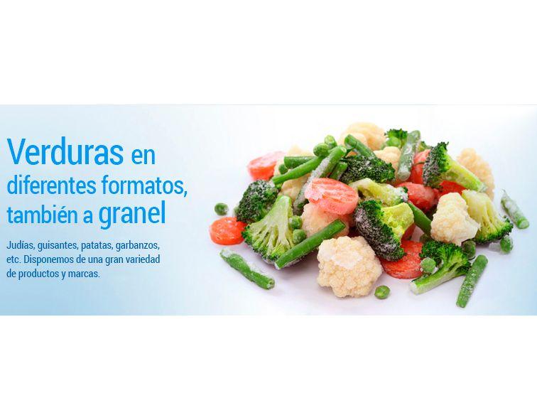 Verduras congeladas en diferentes formatos y también a granel