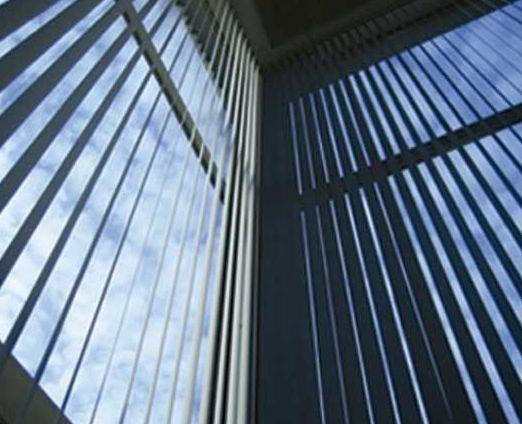 Persiana interior en edificio