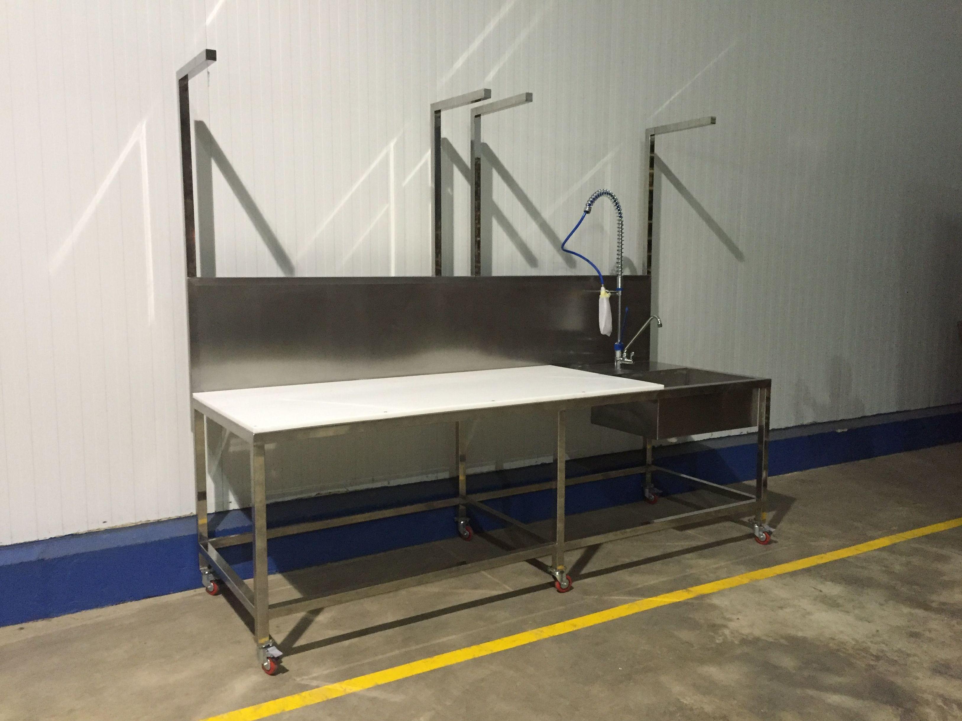 Mesa en acero INOX