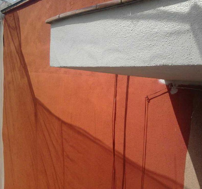 Detalle de pintura de fachada