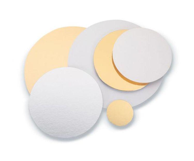 Discos de cartón oro y plata reversibles