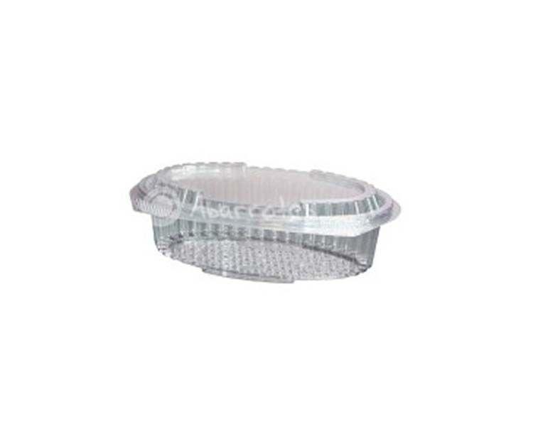 Envase ovalado de plástico