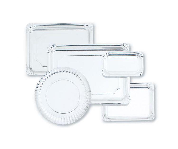 Bandejas de cartón plata