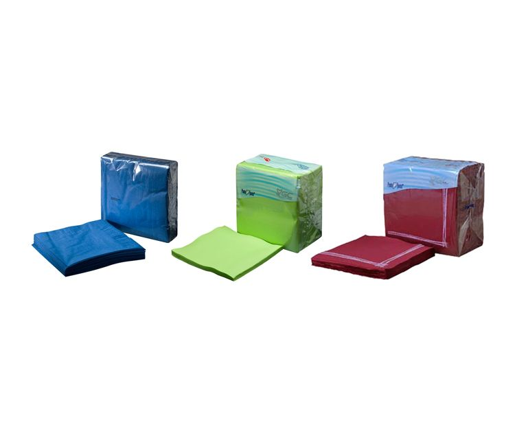 Servilletas de celulosa de colores