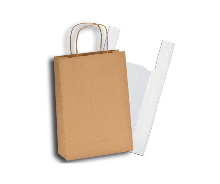 Bolsas de plástico y papel