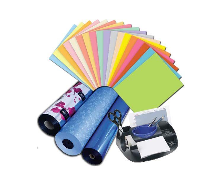 Material de oficina y papel de regalo