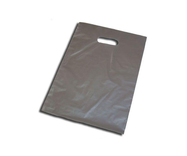 Bolsa de plástico con asa troquelada