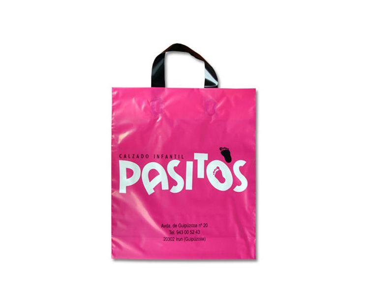 Bolsa de plástico con asa flexible