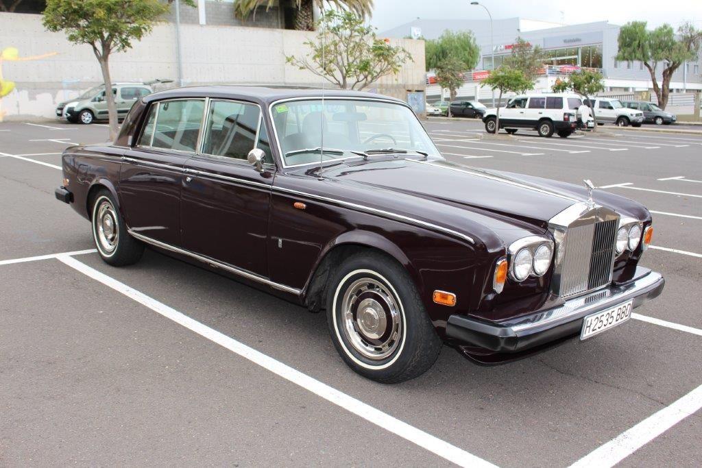 Alquiler de Rolls Royce Silver Shadow año 1975 con conductor en Tenerife