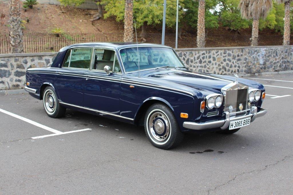 Alquiler de Rolls Royce Silver Shadow 1972 con conductor en Tenerife