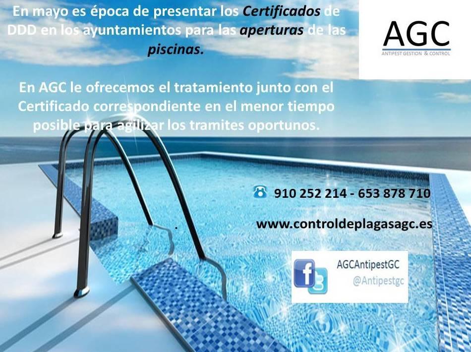 Certificados DDD piscinas