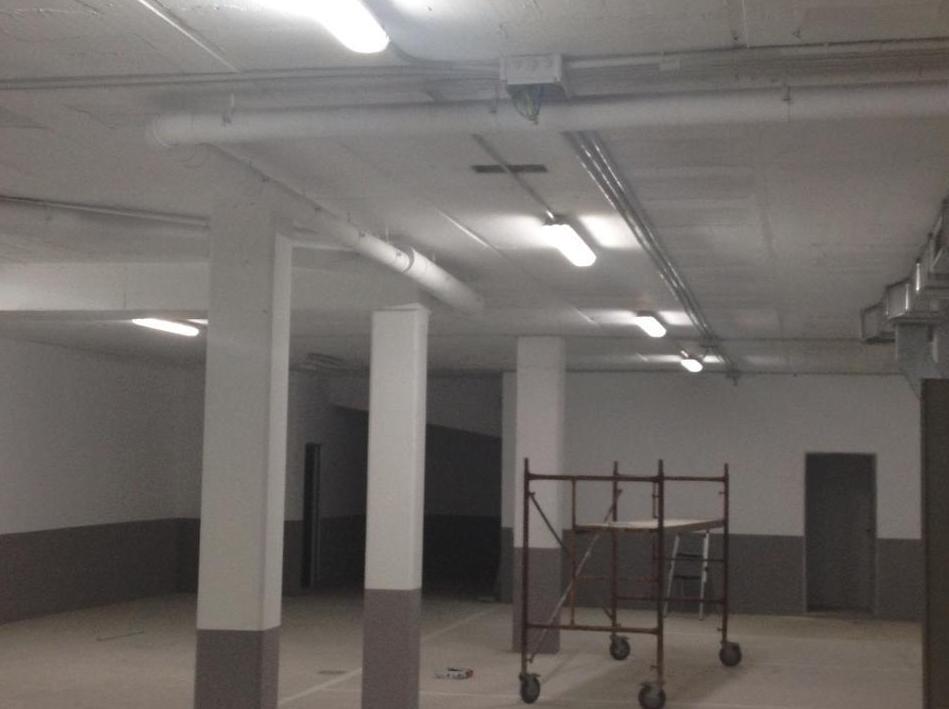 Instalación de la iluminación de un garaje