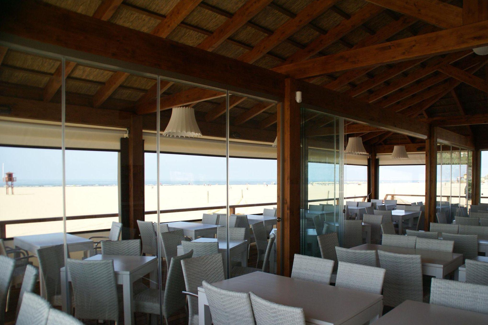 Chiringuito en la playa de Isla Canela, Ayamonte (Huelva)