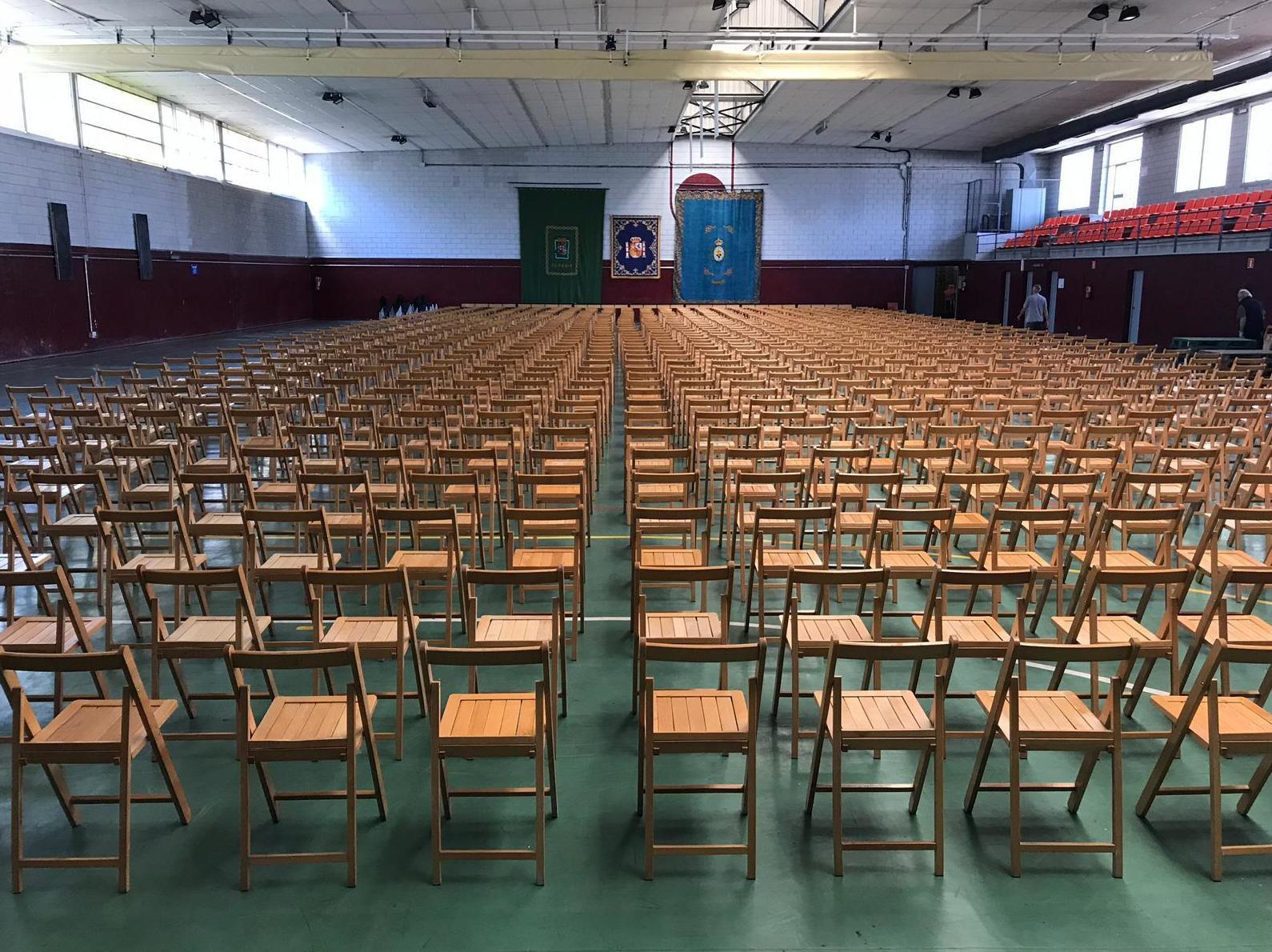 Alquiler sillas graduación Policía Nacional