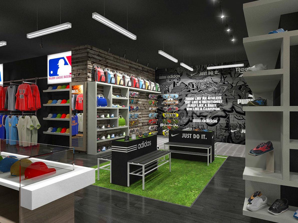 Diseño y reforma de local comercial para tienda de artículos deportivos en Barcelona
