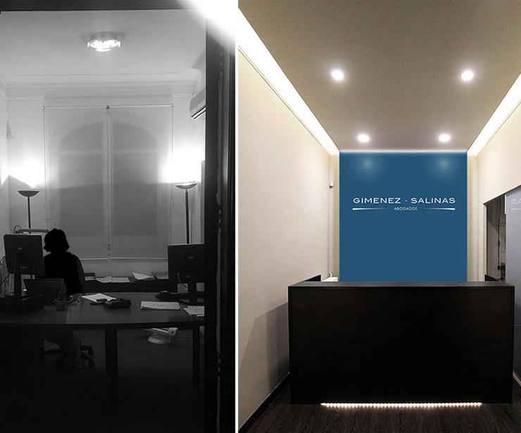 Diseño y reforma de recepción para estudio de abogados en Barcelona