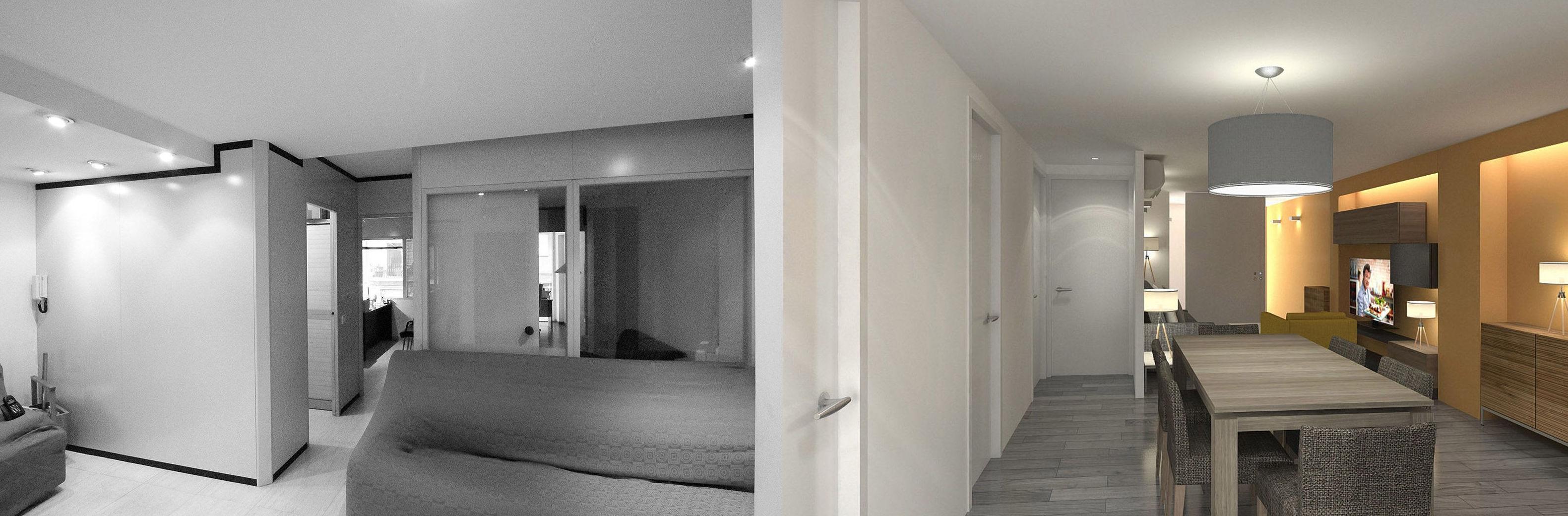Diseño interior de vivienda en Barcelona.
