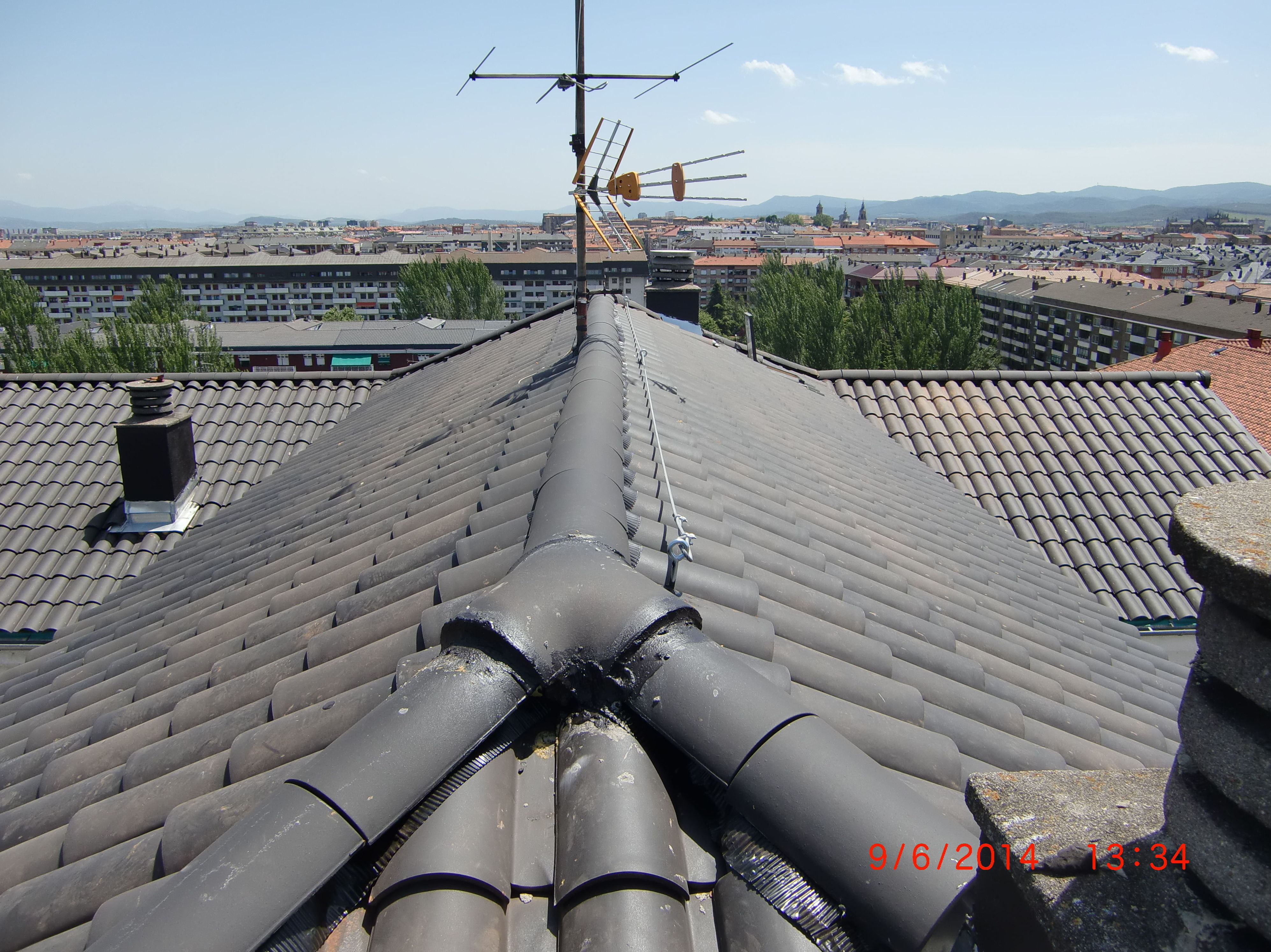 Rehabilitación de tejado en la calle Chile, 6 Vitoria-Gasteiz después de la obra